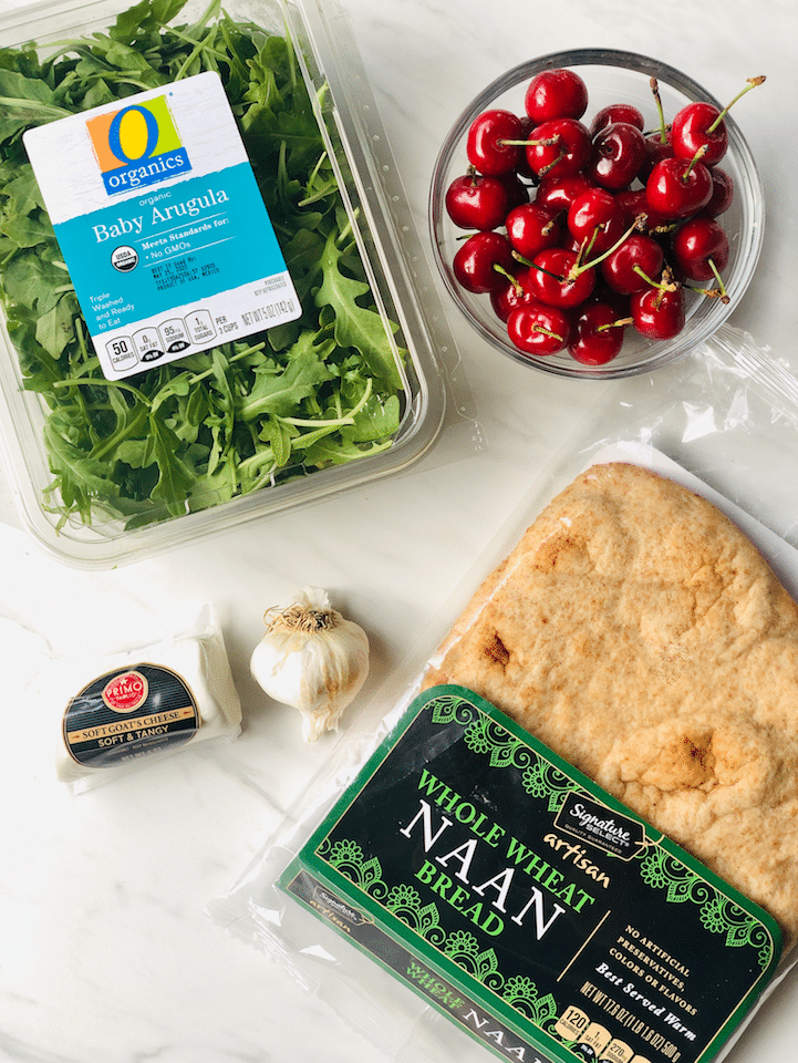 ingredients_in_Grilled_Cherry_Goat-Cheese_Flatbread