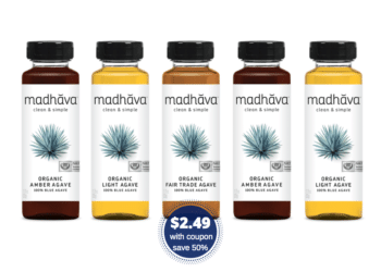 Madhava Organic Agave Nectar Just $2.49 With Coupon at Safeway