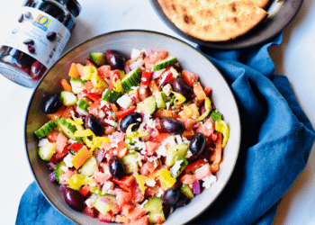 Authentic Greek Salad Featuring NEW O Organics Kalamata Olives