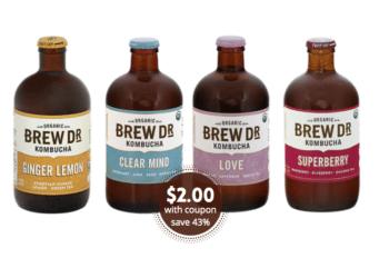 Brew Dr. Kombucha Just $2.00 Each at Safeway