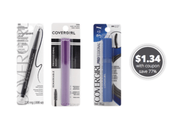 New Cover Girl Makeup Coupons + 25% Off Sale, Get Mascara for $1.34