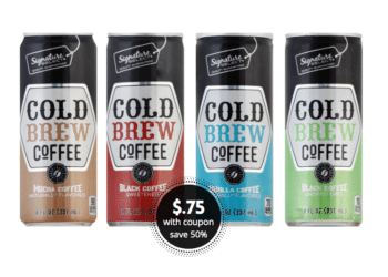 Signature SELECT Cold Brew Coffee Just $.75 a Can at Safeway