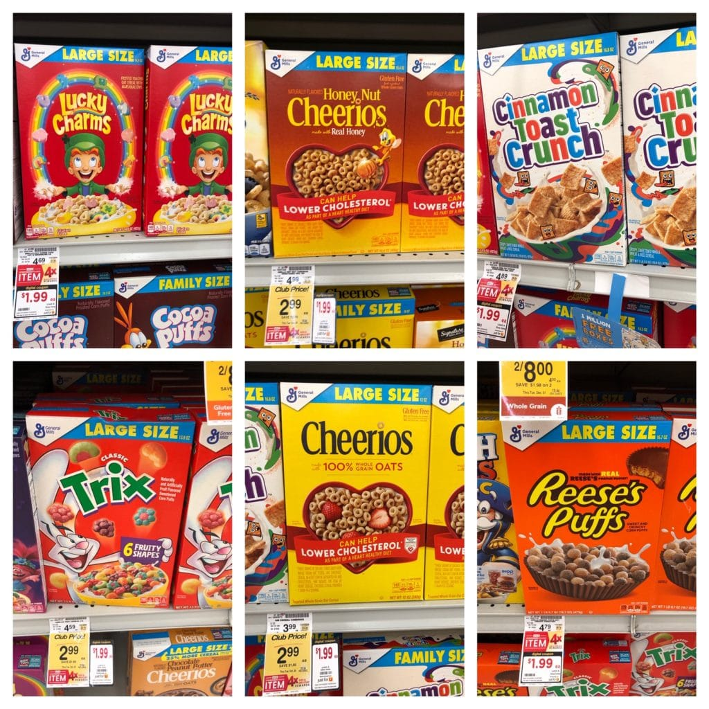 general mills large cereal boxes sale