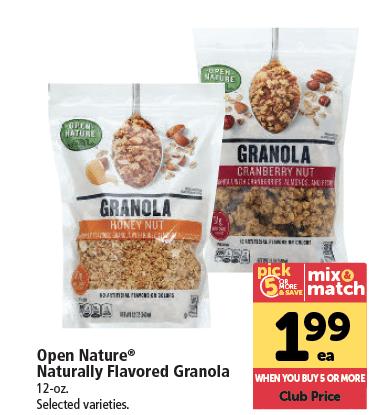 open_nature_Granola_Sale