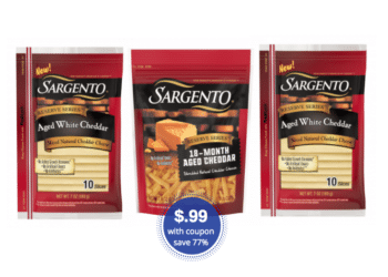 Sargento Cheese Coupons and Sale – Pay Just $.99 at Safeway