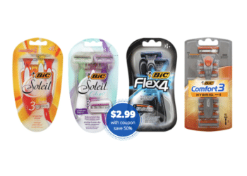 BIC Flex, Hybrid, or Soleil Disposable Razors for $2.99 at Safeway