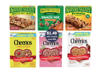 $1.49 Family Size Cheerios & Nature Valley Protein Bars & Nut Crunch Bars at Safeway