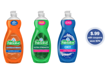 New Palmolive Coupons – Pay Just $.99 for 32.5 oz of Dish Soap (Reg. $4.99)