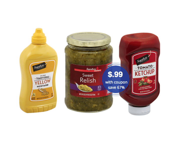 Big Bottles Of Signature Select Relish Mustard Ketchup Just 99 At Safeway Super Safeway