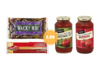 $.99 Wacky Mac Pasta, American Beauty Pasta and Pasta Sauce at Safeway