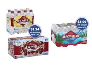 Even Lower – Arrowhead Sparkling Water 8 Packs Just $1.24 and Spring Water 24 Packs Just $1.99