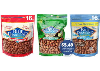 Save 43% on Blue Diamond Almonds 16 oz Bags at Safeway – Just $5.49 With Coupon