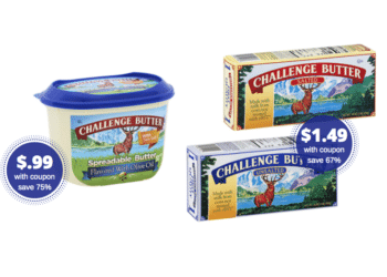 HOT! Challenge Spreadable Butter Just $.99 or Butter Sticks Just $1.49 at Safeway