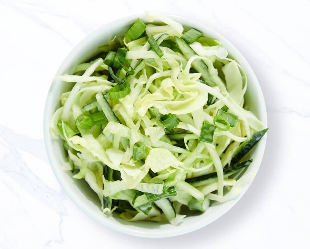 green cabbage slaw