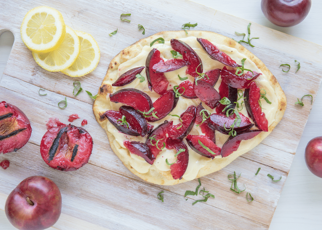 grilled_plum_Goat_Cheese_Flatbread
