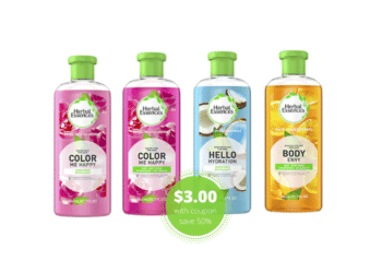 Save 50% on Herbal Essences Shampoo and Conditioner