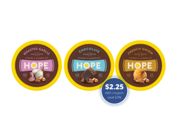 HOPE Cashew & Almond Dips – Try for Just $2.25 at Safeway (Reg. $5.99)