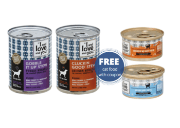 FREE I and Love and You Cat Food or $.99 Dog Food at Safeway