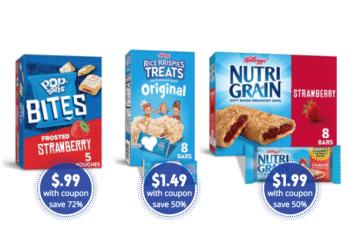 $.99 Pop Tarts Bites, $1.49 Rice Krispies Treats and $1.99 Nutri-Grain Bars at Safeway