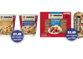 Jimmy Dean Sausage $2.49, Bacon $2.99 and Simple Scrambles Just $1.49 at Safeway