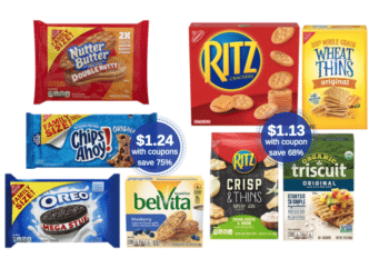 Save 75% on Nabisco Family Size Cookies at Safeway – as Low as $1.24 a Package