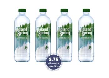 Poland Spring ORIGIN Water Just $.75 Each Bottle at Safeway
