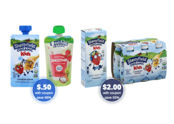 New Stonyfield  Coupons – Pay Just $.50 for Organic Yogurt Pouches and $2 for Yogurt Tubes at Safeway