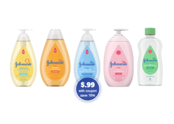 NEW Johnson's Baby Coupon, Pay Just $.99 for Shampoo, Baby Wash, and Oil at Safeway