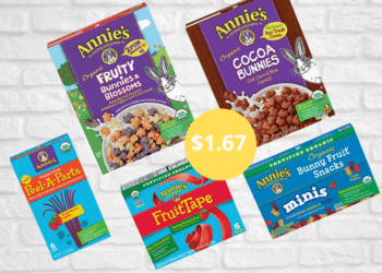 Save 67% on Annie's Fruit Snacks and Organic Cereal at Safeway