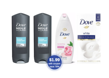 Dove Body Wash or Bar Soap 6 Ct. as Low as $1.99 at Safeway