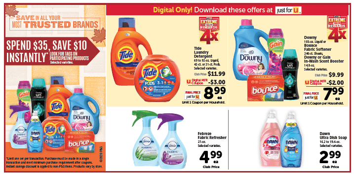 P&G Fall Savings Promo