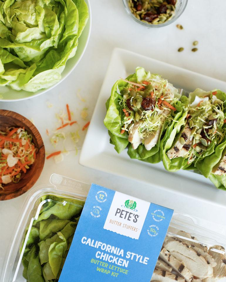 Pete's California Style Chicken lettuce Wrap kit