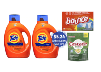 Save 50% and Get 4X Rewards on Tide, Cascade, & Bounce at Safeway With Fall Savings Promo