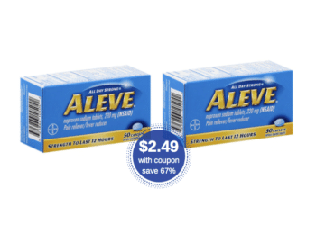 Save $5 on Aleve Pain Relief 50 Ct. Tablets – Just $2.49 at Safeway