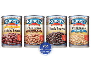 Kuner's Chili Beans as Low as 26¢ Each at Safeway