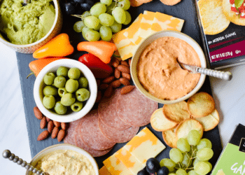 Movie Night Snacking Board Featuring NEW Signature SELECT Pita Crackers