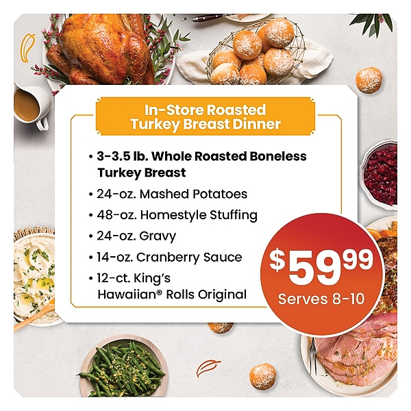 Prepared Thanksgiving Turkey Breast Dinner