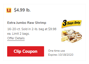 shrimp coupon safeway