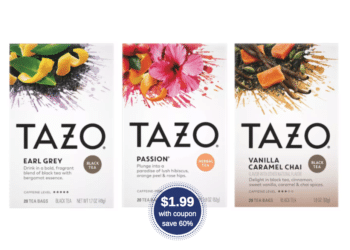 Tazo Tea Products on Sale at Safeway, Pay $1.99 After Coupon