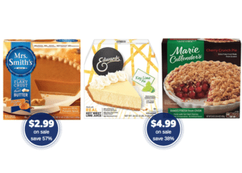 Thanksgiving Pies as Low as $2.99 at Safeway – Save on Mrs. Smiths, Edwards & Marie Callender's