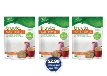 Truvia Sweet Complete Stevia Sweetener Bags Just $2.99 (Reg. $7.99)