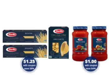 Barilla Collezione Pasta $1.25 and Sauce $1.00 at Safeway