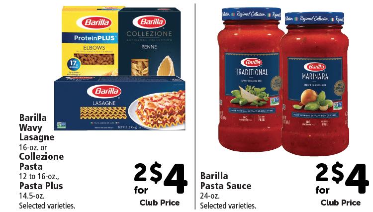 barilla_Collezione_and_Sauce_price