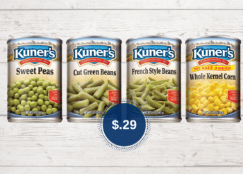 Stock up on Kuner's Canned Green Beans, Corn & Peas Just $.29 at Safeway