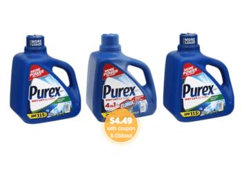 Save $6.50 on Purex Detergent at Safeway – Pay Just $.03/load