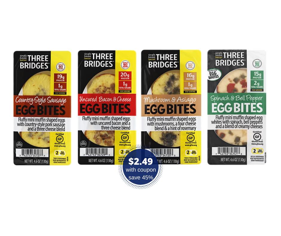 three bridges egg bites flavors