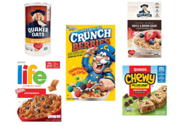 Quaker Life Cereal, Oatmeal Squares & Cap 'n Crunch Just $.67, Chewy Bars and Oatmeal Just $1.17 at Safeway