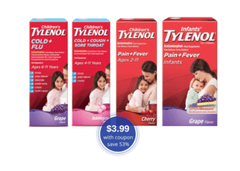 Children's Tylenol and Cold & Flu Products Just $3.99 at Safeway (Reg. $8.49)
