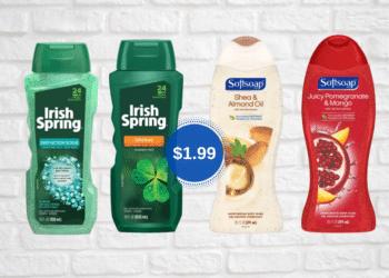 $1.99 SoftSoap or Irish Spring Body Wash at Safeway