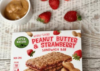 NEW Open Nature Peanut Butter & Berry Sandwich Bars